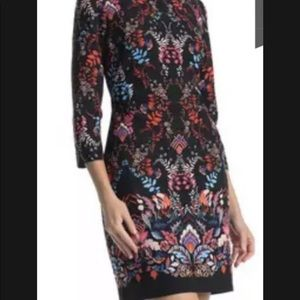 Vince Camuto Sheath Dress Floral 3/4 Sleeve 4
